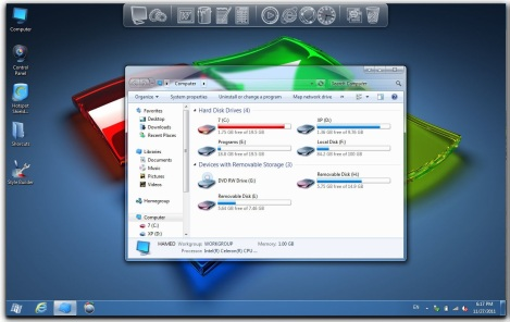 1. crystal theme for windows 7