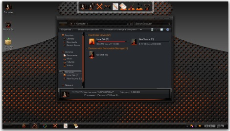 1. fire theme for windows 7