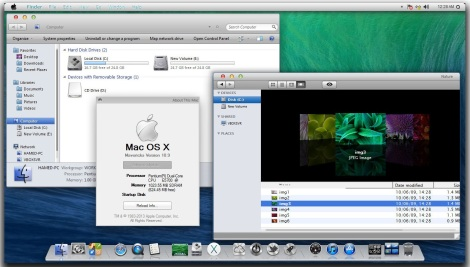 1. mac os x maverick theme for windows 7