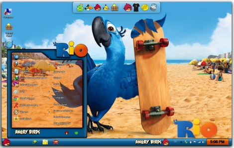 2. angry birds rio skin pack for windows 7