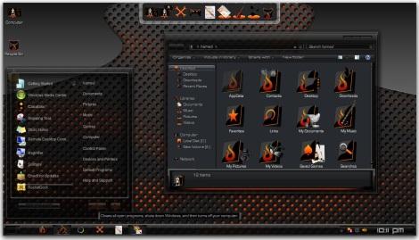2. black theme for windows 7