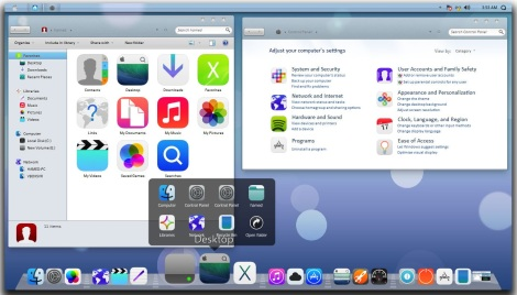 2. iphone 5c and iphone 5s theme for windows 7