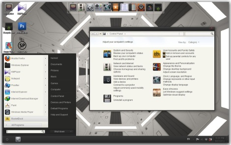 2. minimalist theme for windows 7