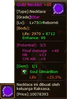 2. potential kalung pirate king, final damage - Hit - crit atk
