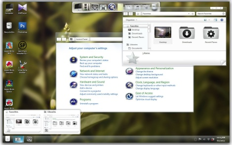 3. frost skin pack for windows 7