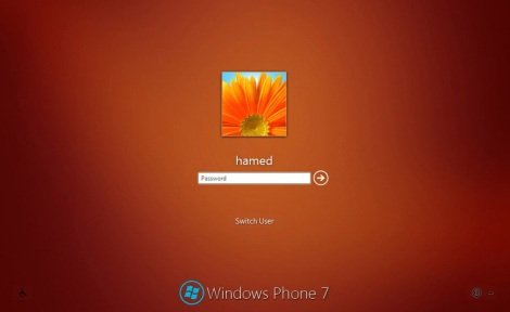4. windows phone login screen for windows 7