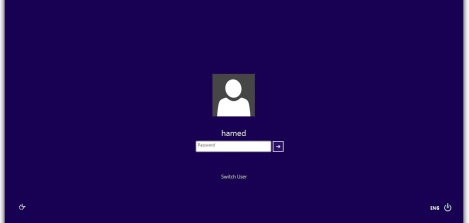 5. Windows 8 login screen for windows 7