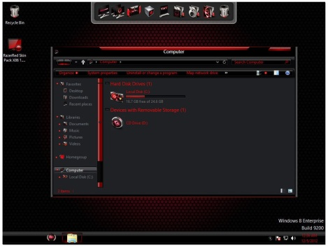 1. red alienware theme for windows 8