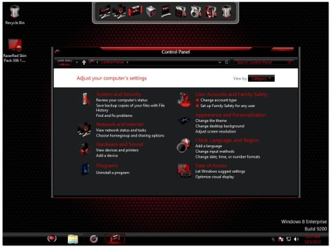 3. red alienware control panel for windows 8