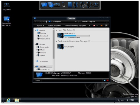 1. metalcore theme for windows 7