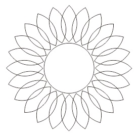 10. sketsa bunga matahari