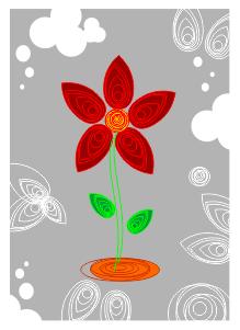 Cara Membuat Bunga Berdesain Quilling Paper dengan CorelDRAW