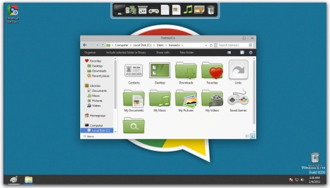 3. chromium explorer and icons for windows 8