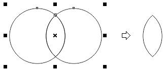3. intersect in coreldraw