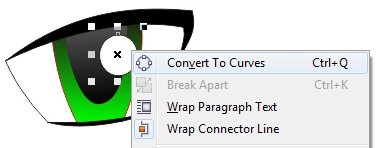 4.20 convert to curves - coreldraw