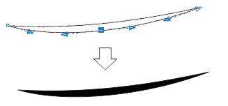 4.7 beri warna hitam - coreldraw