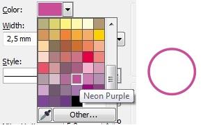 5. neon purple outline coolor