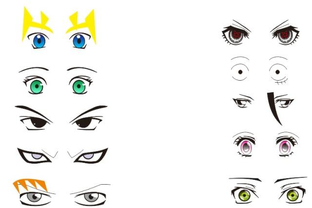 Contoh cara menggambar mata anime
