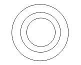 1.2 3 lingkaran dengan ellipse tool - coreldraw