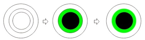 1.3 membuat bola mata dengan coreldraw