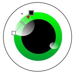 1.6 pencahayaan bola mata - coreldraw