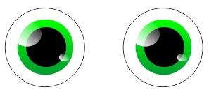 1.7 mata karakter sudah selesai - coreldraw
