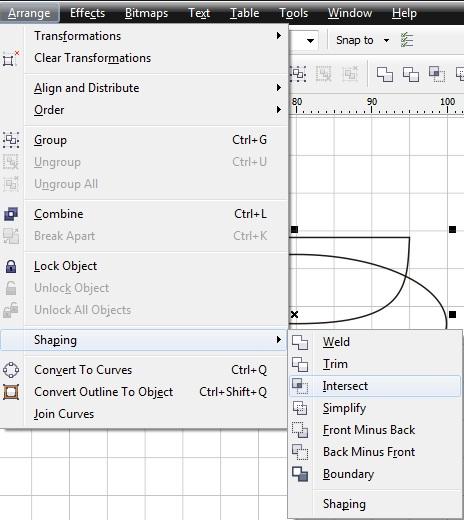 11. intersect object coreldraw