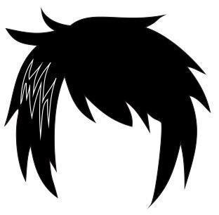 Cara Membuat Rambut  Karakter Anime dan Manga dengan
