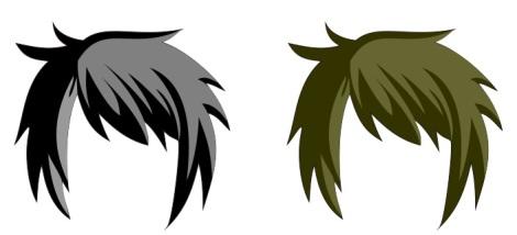 13. pewarnaan rambut pada anime