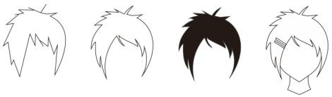 14. contoh rambut cewek manga atau anime