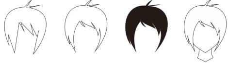 15. rambut chara anime manga