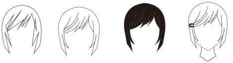 16. cara membuat rambut cewek dengan coreldraw