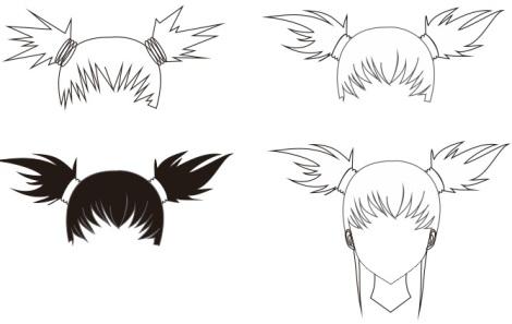 17. tutorial coreldraw - membuat rambut karakter chara