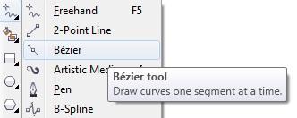 2. bezier tool
