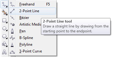 25. 2-point line tool coreldraw