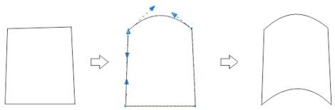 32. melengkungkan objek di coreldraw