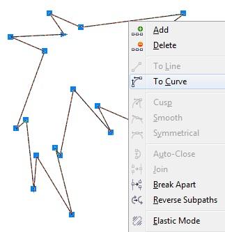 5. cara melenturkan garis pada coreldraw