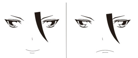 5. cara membuat bibir anime manga dengan coreldraw