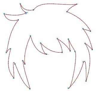 7. memperbaiki rambut anime