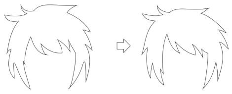 8. penghalusan rambut dengan coreldraw