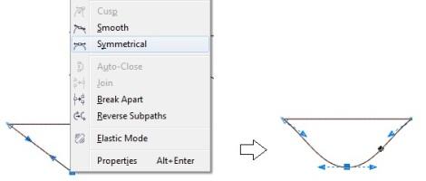 8. symmetrical line coreldraw