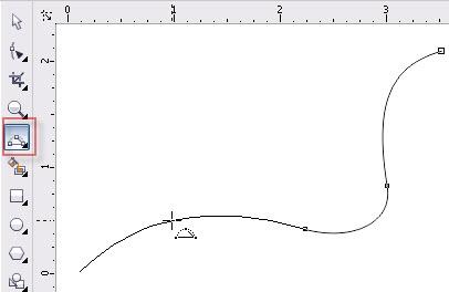 1. cara menggunakan 3-point curve di coreldraw