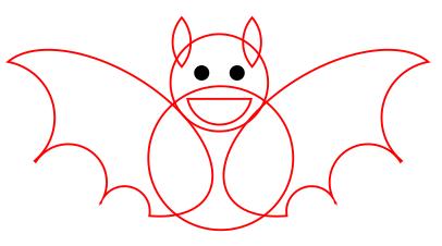 10. cara menggambar kalelawar atau kalo di corel draw