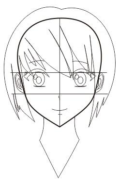 11. cara membuat wajah manga atau anime dengan coreldraw