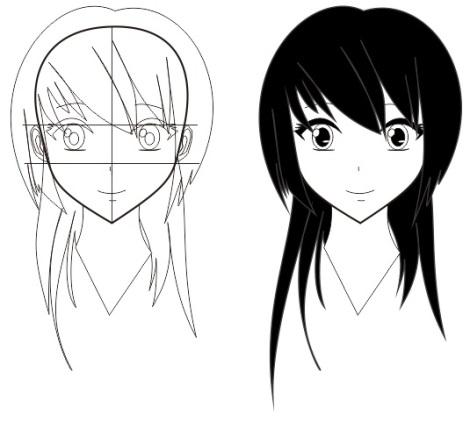 12. tutorial membuat wajah manga dan anime dengan corel draw