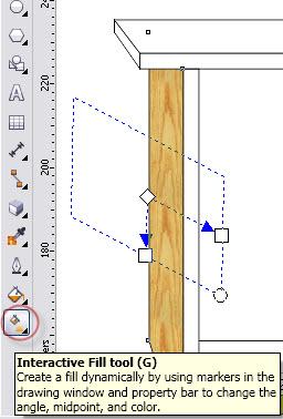 13. cara memberi tekstur kayu di coreldraw