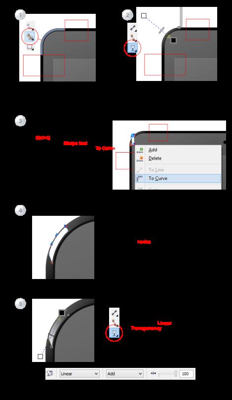 13. cara membuat area pojok di coreldraw