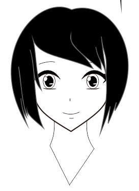 13. cara membuat wajah anime atau manga dengan coreldraw
