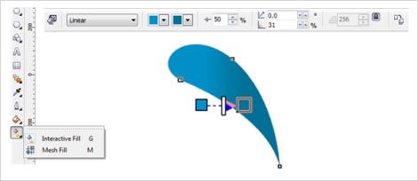 14. cara menggambar rambut burung di coreldraw