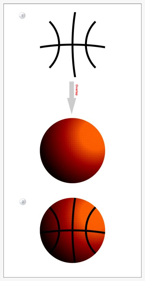 14. garis pada bola basket